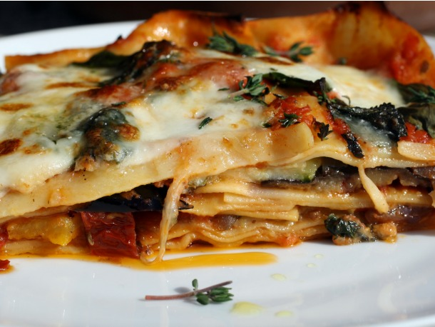 Roasted Ratatouille Lasagna Napoleons