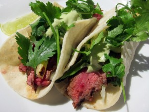 Hot Hot Hot Chipotle Steak Tacos