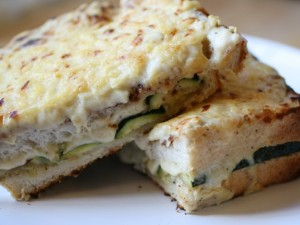 Chargrilled Zucchini Croque Mademoiselle