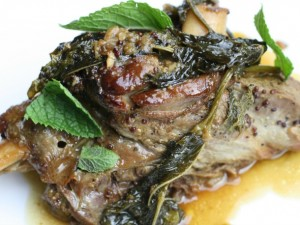 Braised Lamb with Mustard and Mint