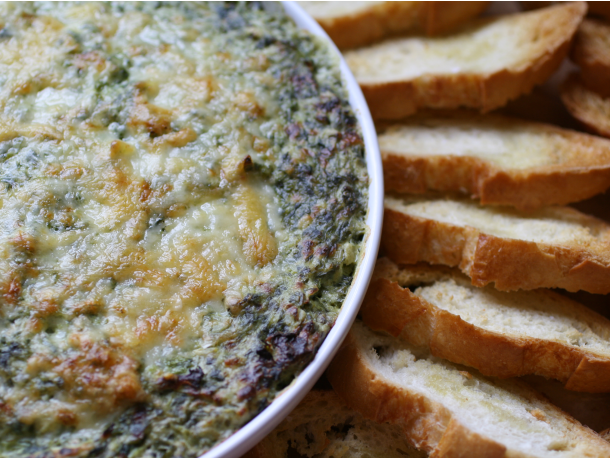 Spinach and Artichoke Hot Boursin Dip