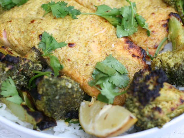 Tandoori Salmon with Broccoli Zoom