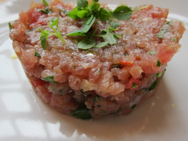... Knock-Off Fresh Tuna Tartare with Tomato and Basil | French Revolution