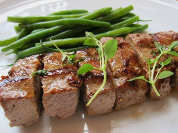 Tender Lamb Brochettes with Thyme and Haricots Verts | French ...