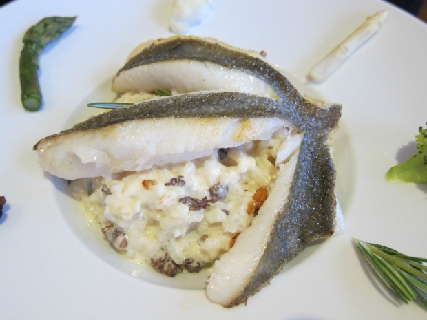 Cassis Sea Bream with Truffled Risotto
