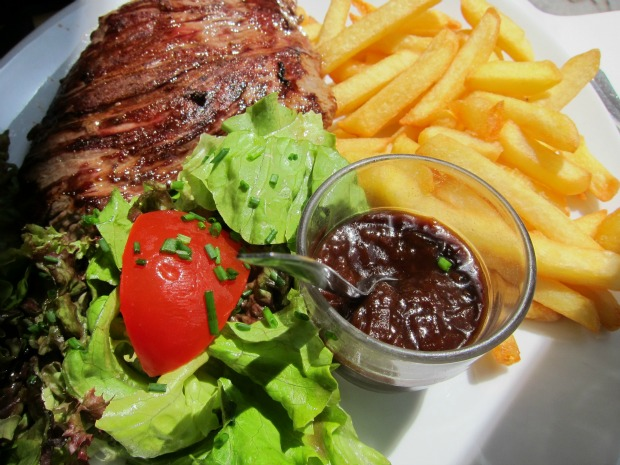 Paris Steak Frites Red Wine Sauce