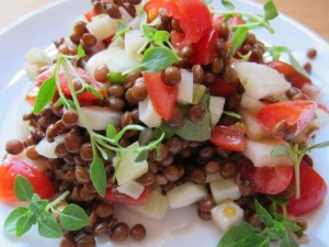 Lentil Salad with Fennel, Apple, and Herbs
