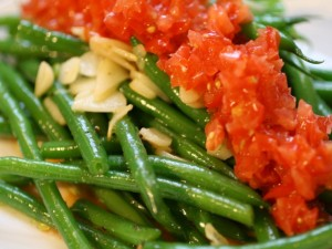 Haricots Verts, Tomato, and Garlic Salad