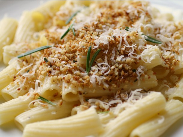 Crunchy Rigatoni with Rosemary
