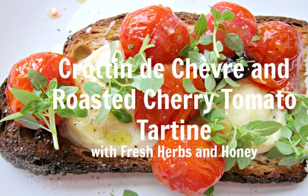 Crottin and Tomato Tartine