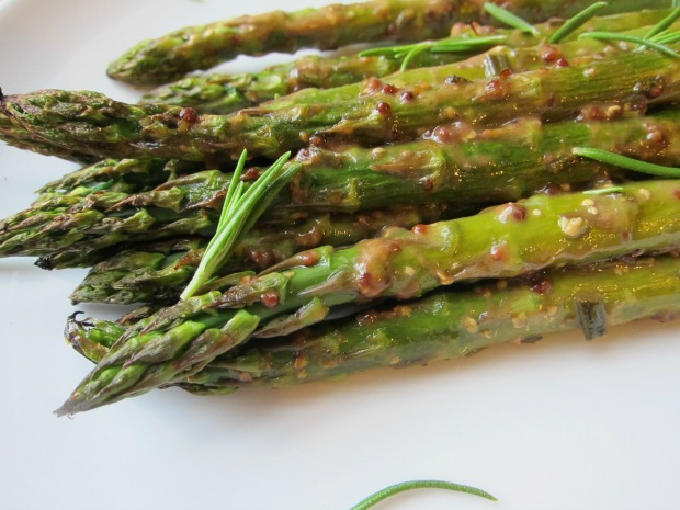 Honey Balsamic Dijon Asparagus