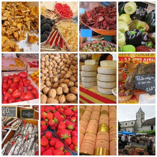 Issigeac Market Collage