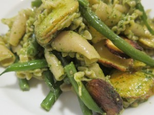 Whole Wheat Pasta Spinach Pesto Haricots Verts Rosemary Potatoes