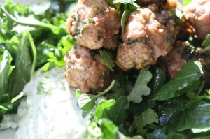 Chobani Turkey Meatballs and Tzatziki